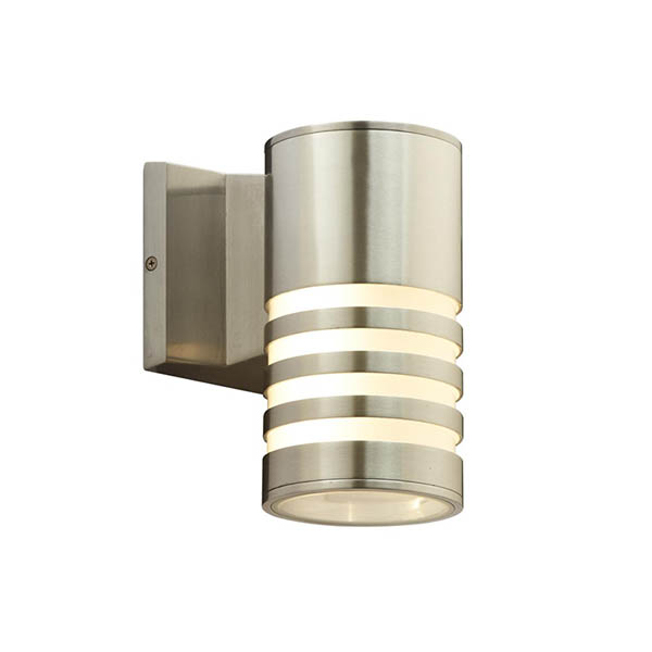 Outdoor wall light silver finish
