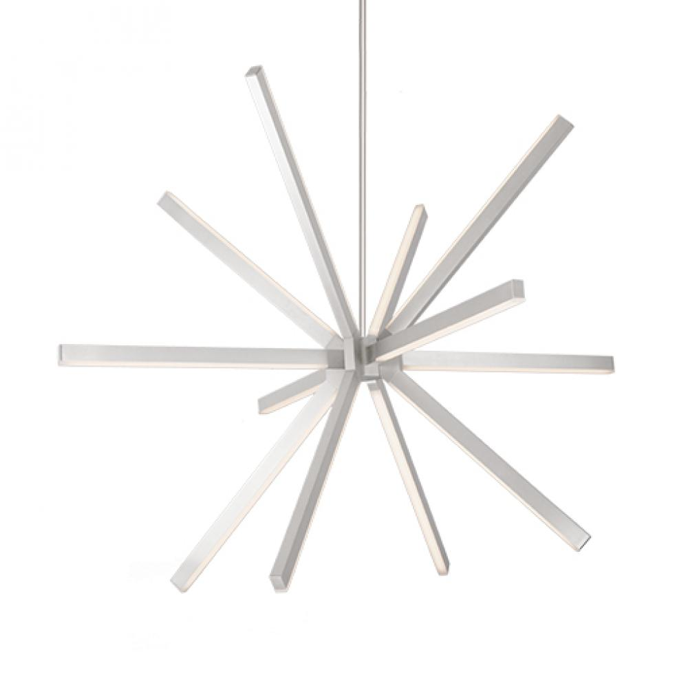 Kuzco geometric chandelier silver LED
