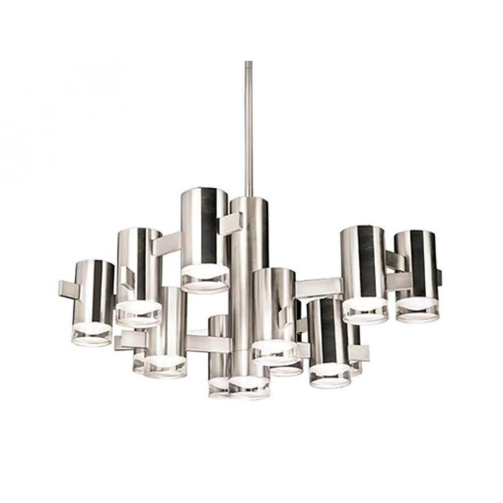 Kuzco chandelier polished chrome