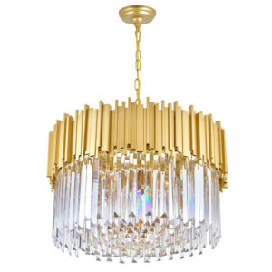 gold round crystal chandelier